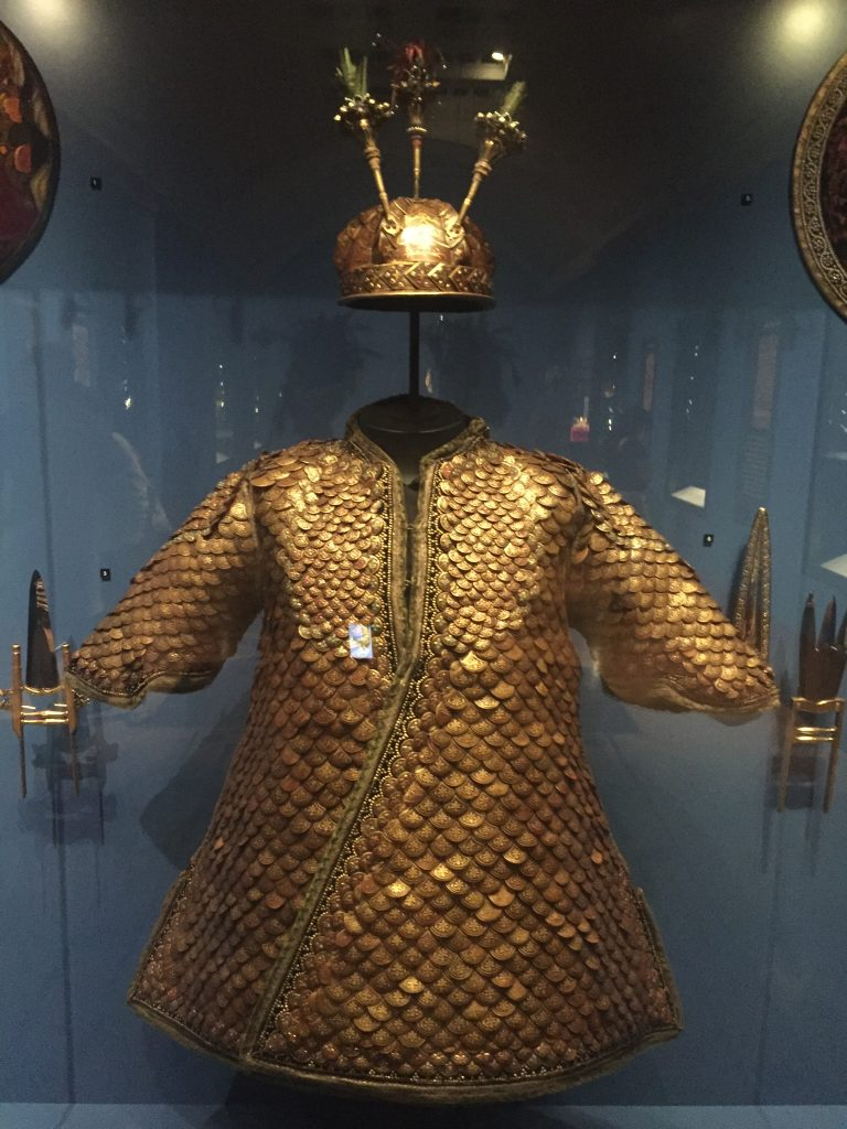 A suit of armour made from pangolin scales