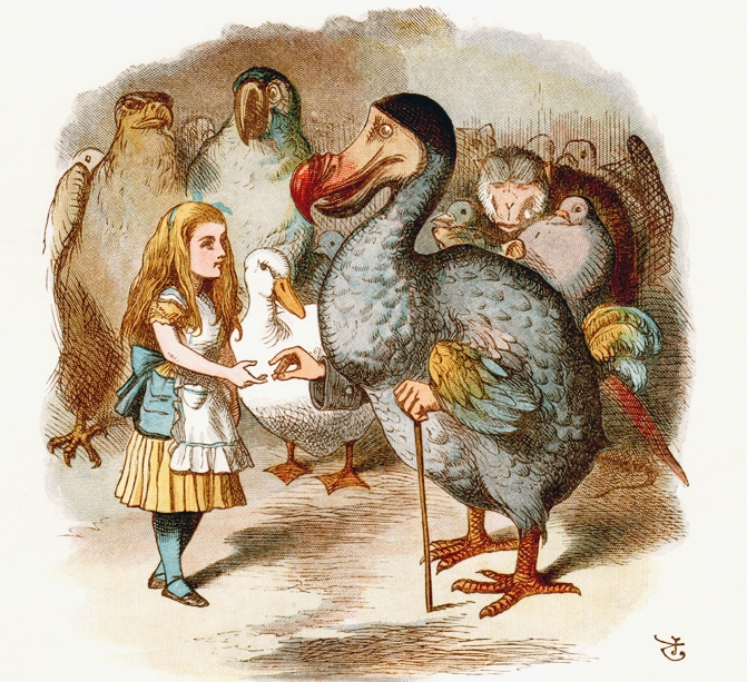 An illustration of Alice and the Dodo from Alice's Adventures in Wonderland