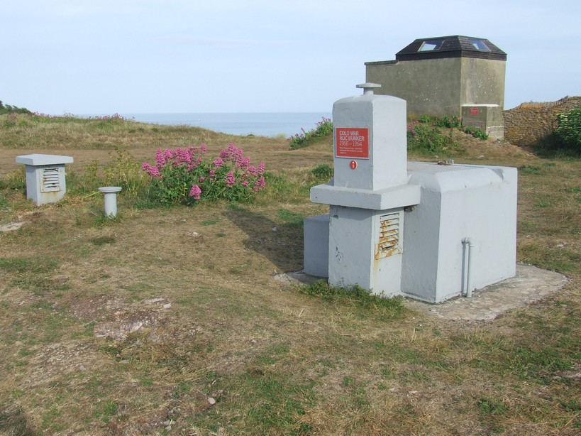 A World War II aircraft observation post and a Cold War nuclear bunker at Berry Head